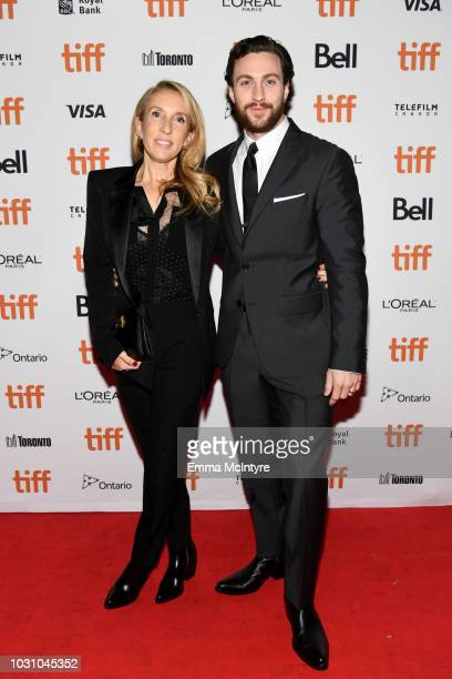 Sam TaylorJohnson and Aaron TaylorJohnson attend the A Million Little Pieces premiere during 2018 Toronto International Film Festival at Ryerson...