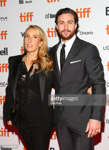 Sam TaylorJohnson and Aaron TaylorJohnson attend the 'A Million Little Pieces' premiere during 2018 Toronto International Film Festival at Ryerson...