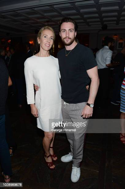 Sam TaylorJohnson and Aaron TaylorJohnson attend the 'Beautiful Boy' afterparty hosted by Amazon Studios Hugo Boss during 2018 Toronto International...