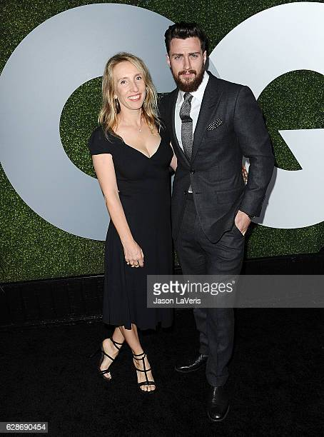 Sam TaylorJohnson and Aaron TaylorJohnson attend the GQ Men of the Year party at Chateau Marmont on December 8 2016 in Los Angeles California
