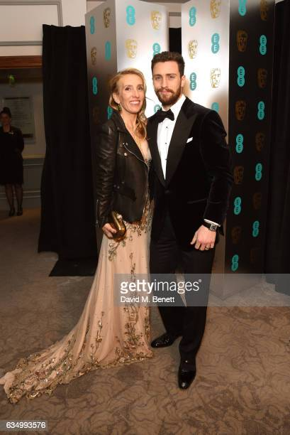 Sam TaylorJohnson and Aaron TaylorJohnson attend the official After Party Dinner for the EE British Academy Film Awards at Grosvenor House on...