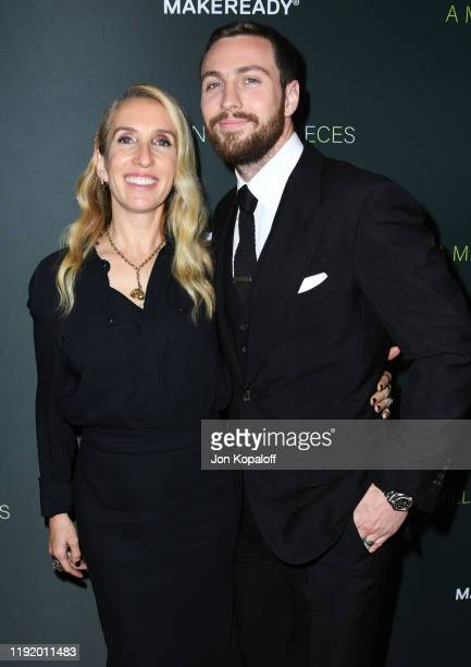 """Sam Taylor-Johnson and Aaron Taylor-Johnson attend the Special Screening Of Momentum Pictures' """"A Million Little Pieces"""" at The London Hotel on..."""