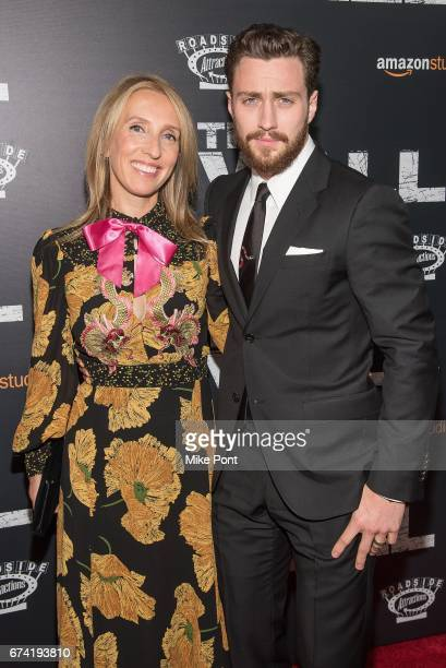 Sam TaylorJohnson and Aaron TaylorJohnson attend 'The Wall' World Premiere at Regal Union Square Theatre Stadium 14 on April 27 2017 in New York City