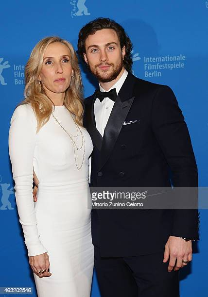 Sam TaylorJohnson and Aaron TaylorJohnson attends the 'Fifty Shades of Grey' premiere during the 65th Berlinale International Film Festival at Zoo...