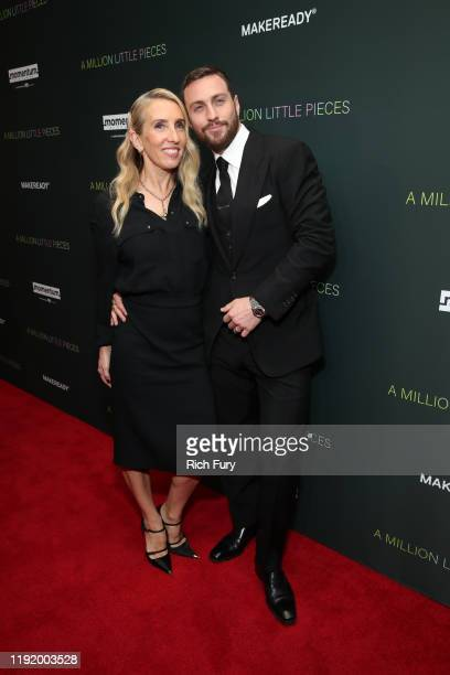 """Sam Taylor-Johnson and Aaron Taylor-Johnson attends the special screening of Momentum Pictures' """"A Million Little Pieces"""" at The London Hotel on..."""