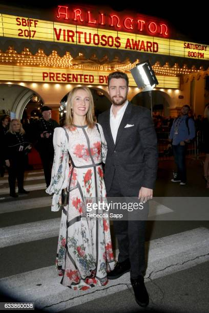 Sam TaylorJohnson and actor Aaron TaylorJohnson attend the Virtuosos Award presented by UGG during the 32nd Santa Barbara International Film Festival...