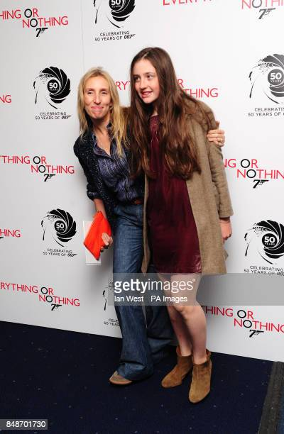 Sam TaylorJohnson and daughter Angelica Jopling arrives at the screening of Everything Or Nothing at the Odeon West End in London