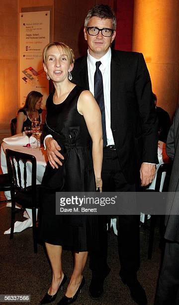 Sam TaylorWood and Jay Joplin attend the Turner Prize 2005 at Tate Britain on December 5 2005 in London England David Lammy hosts this year's...