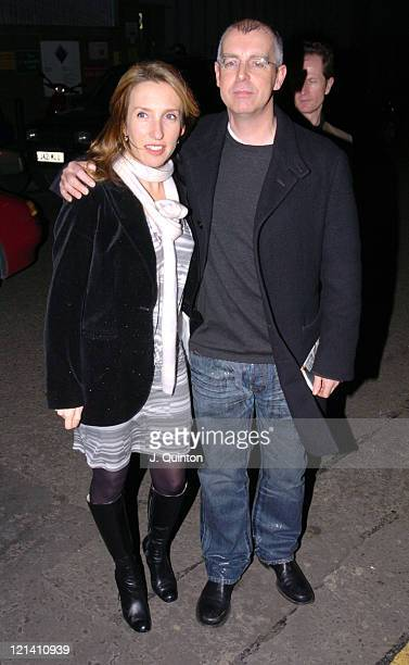 Sam TaylorWood and Neil Tennant during Yoko Ono 'Odyssey of a Cockroach' Art Exhibition Launch Party at The Institute Of Contemporary Arts in London...