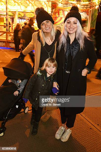 Sam Teasdale and Lou Teasdale attend a VIP Preview of Hyde Park's Winter Wonderland 2016 on November 17 2016 in London United Kingdom