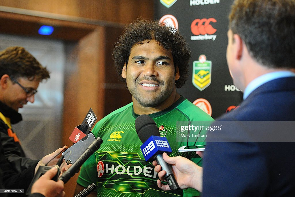 Sam Thaiday attends an Australian Kangaroos media session at InterContinental Hotel Wellington on November 11, 2014 in Wellington, New Zealand.
