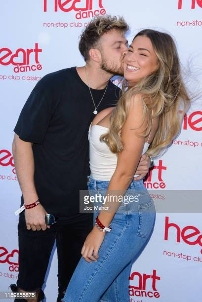 Sam Thompson and Zara McDermott attend the Heart Dance Media launch event at Global Radio Studios on July 03 2019 in London England