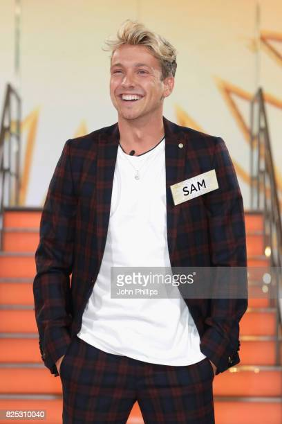 Sam Thompson enters the Big Brother House for the Celebrity Big Brother launch at Elstree Studios on August 1 2017 in Borehamwood England