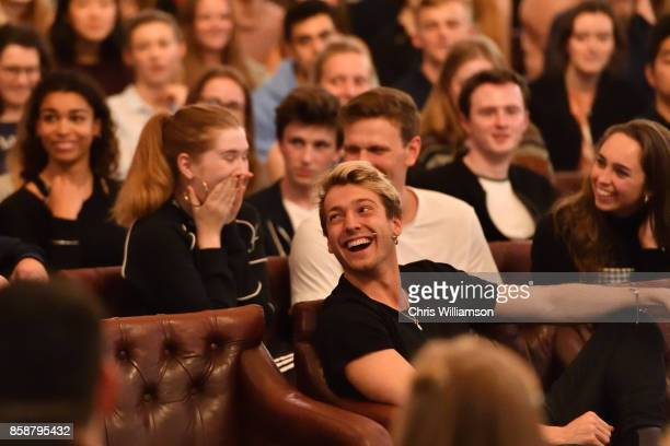 Sam Thompson from 'Made in Chelsea' takes part in the 'This House Would Rather Be On Reality TV' debate at The Cambridge Union on October 7 2017 in...