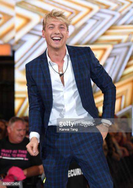 Sam Thompson is evicted from the Celebrity Big Brother house at Elstree Studios on August 25 2017 in Borehamwood England