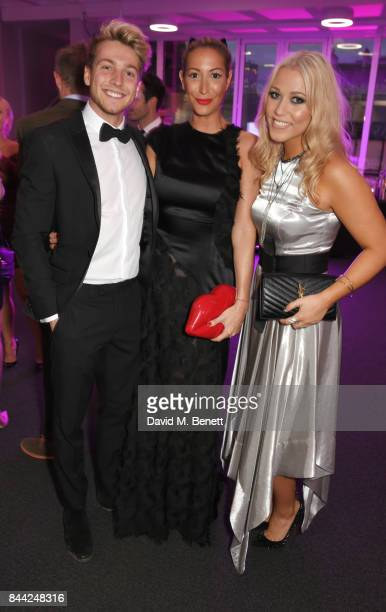 Sam Thompson Laura Pradelska and Amelia Lily attend The Inspiration Awards For Women at The Queen Elizabeth II Conference Centre on September 8 2017...