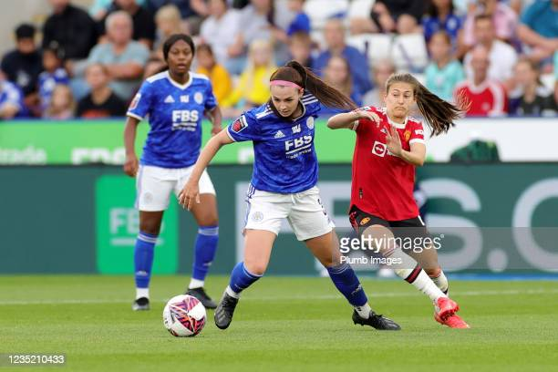 Sam Tierney of Leicester City Women during the Barclays FA Women's Super League match between Leicester City Women and Manchester United Women at...