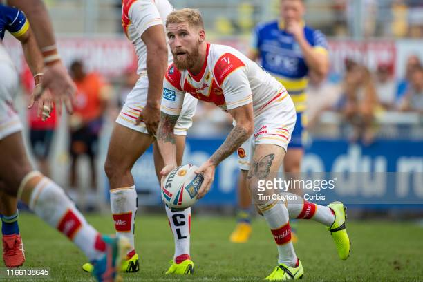 Sam Tomkins of Catalans Dragons in action during the Catalans Dragons V Warrington Wolves Betfred Super League regular season match at Stade Gilbert...