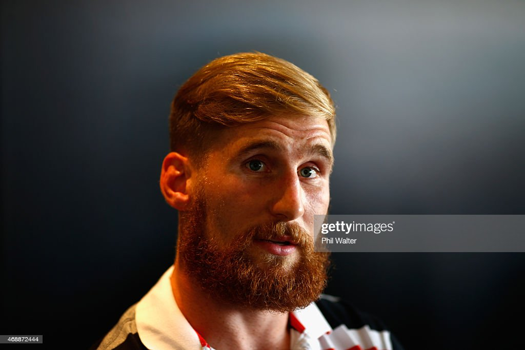 Sam Tomkins of the Warriors speaks to the media during a New Zealand Warriors NRL press conference at Mt Smart Stadium on April 8, 2015 in Auckland, New Zealand. It was today announced that Sam Tomkins has been granted an early release from his contract while Roger Tuivasa-Sheck has signed a three year deal with the club.