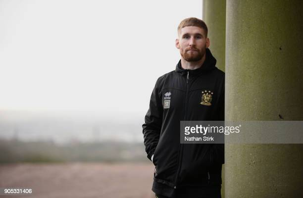 Sam Tomkins of Wigan Warriors poses for a portrait during the Wigan Warriors Media Day at Haigh Hall Hotel on January 15 2018 in Wigan England