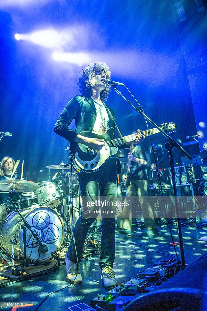 Sam Toms and James Edward Bagshaw of Temples perform onstage at the NME Awards Tour Show at The Institute on March 25, 2014 in Birmingham, England.