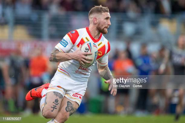 Sam Tonkins of Catalans Dragons in action during the Catalans Dragons V Warrington Wolves Betfred Super League regular season match at Stade Gilbert...