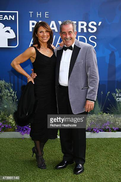 Sam Torrance and his wife Suzanne Danielle attend the European Tour Players' Awards ahead of the BMW PGA Championship at the Sofitel London Heathrow...