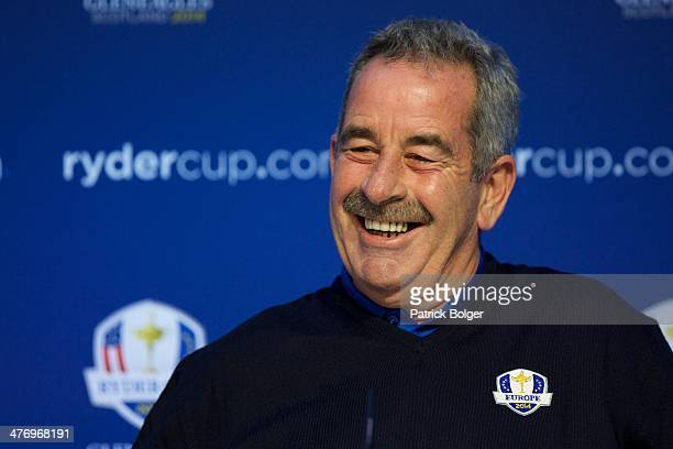 Sam Torrance European Ryder Cup ViceCaptain is pictured during a Ryder Cup Press Conference on March 06 2014 in Dublin Ireland