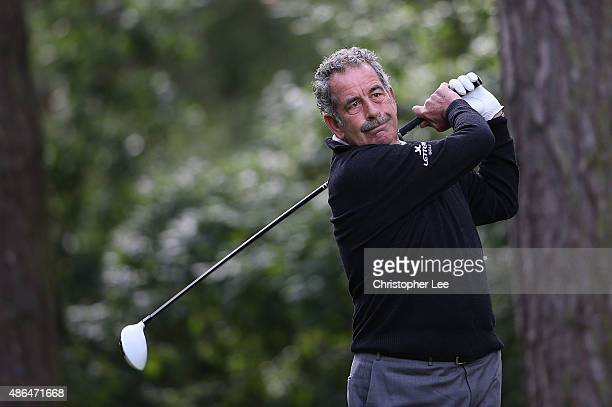 Sam Torrance of Scotland in action during Day One of the Travis Perkins Masters on the Dukes Course at Woburn Golf Club on September 4 2015 in Woburn...