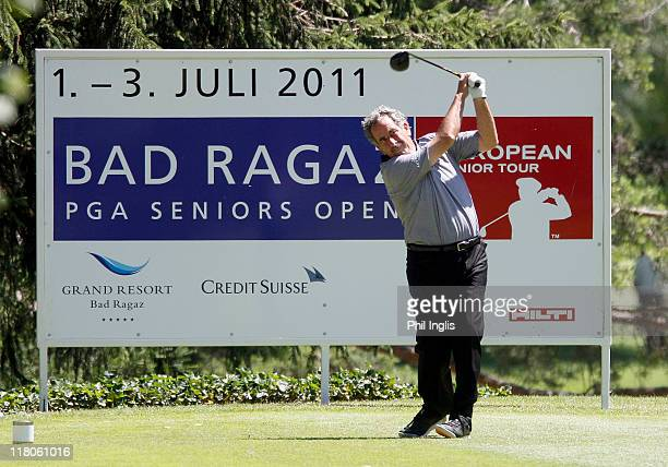 Sam Torrance of Scotland in action during the final round of the Bad Ragaz PGA Seniors Open played at Golf Club Bad Ragaz on July 3, 2011 in Bad...
