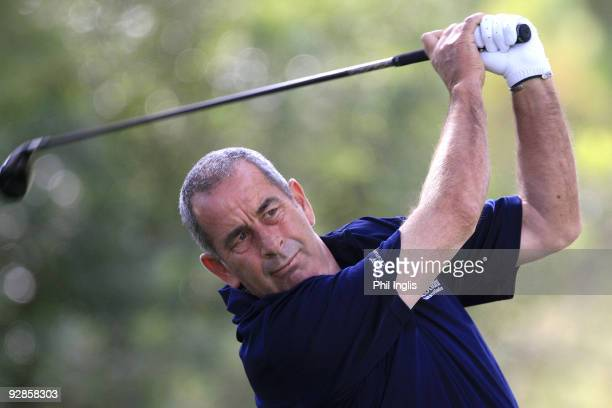 Sam Torrance of Scotland in action during the first round of the OKI Castellon Senior Tour Championship played at Club de Campo Mediterraneo on...