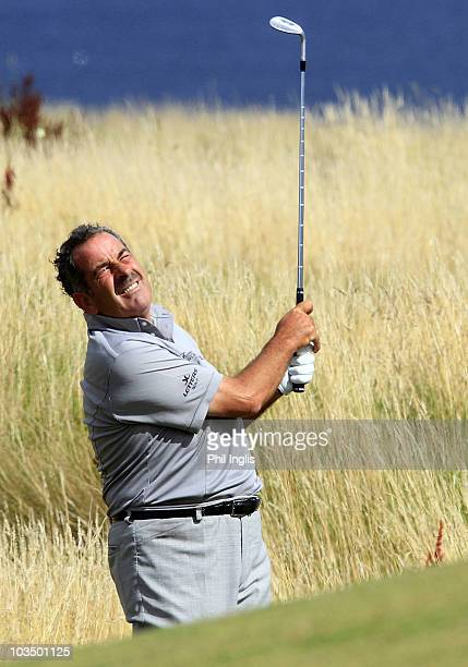 Sam Torrance of Scotland in action during the first round of the Cleveland Golf Srixon Scottish Seniors played at the Torrance Course Fairmont...