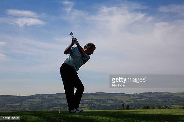 Sam Torrance of Scotland in action during the second round of the ISPS Handa PGA Seniors Championship played at the Lee Westwood Colt Course Close...
