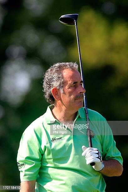 Sam Torrance of Scotland looks on during the second round of the ISPS Handa PGA Seniors Championship played at De Vere Mottram Hall on June 7 2013 in...