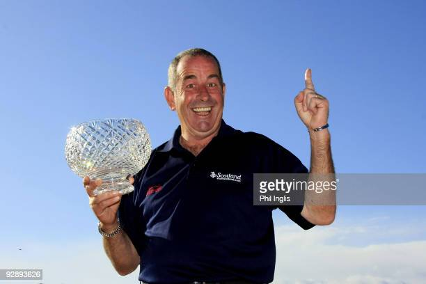 Sam Torrance of Scotland poses with the John Jacobs Trophy an award for winning the 2009 Order of Merit after the final round of the OKI Castellon...