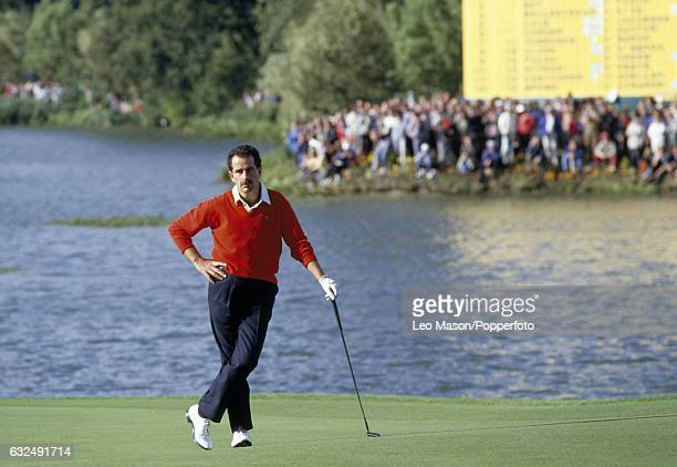 Sam Torrance of Team Europe during the Ryder Cup golf competition at The Belfry at Wishaw near Birmingham circa September 1985