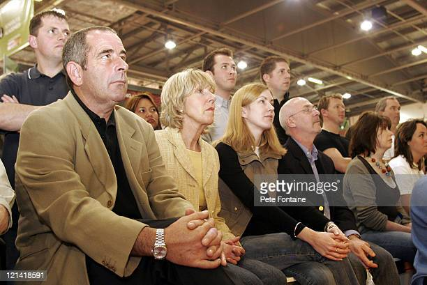 Sam Torrance watches the fashion show during 2005 London Golf Show at the ExCel Centre April 23 2005