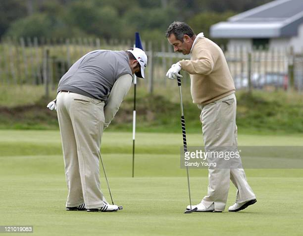 Sam Torrance with his son Daniel Torrance during the second round of 2006 Alfred Dunhill Links Championship on the old course at St Andrews Scotland...