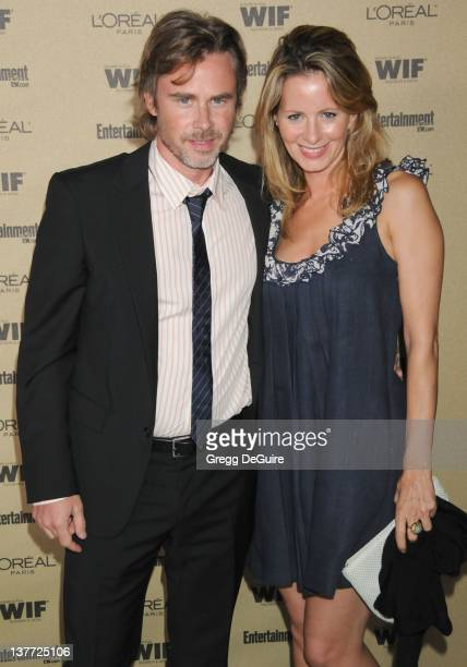 """Sam Trammell and Missy Yager arrive at the Entertainment Weekly and Women In Film Pre-Emmy Party at the """"Restaurant"""" at the Sunset Marquis Hotel on..."""