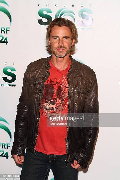 Sam Trammell arrives at Actors for Oceans charity event benefiting Project Save Our Surf at Falcon Restaurant on November 13 2010 in Hollywood...
