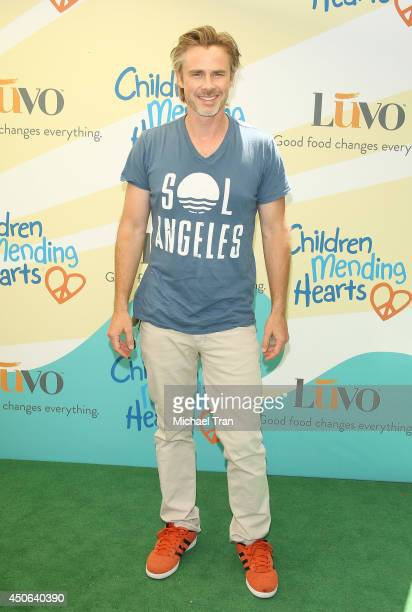Sam Trammell arrives at the Children Mending Hearts's 6th Annual Fundraiser Empathy Rocks A Spring Into Summer Bash held at a private residence on...