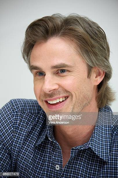 """Sam Trammell at """"The Fault In Our Stars"""" Press Conference at the Four Seasons Hotel on April 14, 2014 in Beverly Hills, California."""