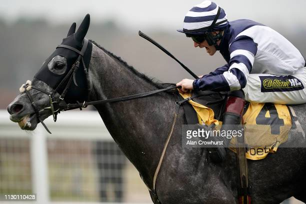Sam TwistonDavies riding Al Dancer clear the last to win The Betfair Hurdle Race at Ascot Racecourse on February 16 2019 in Ascot England