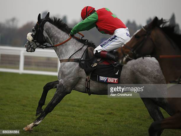 Sam TwistonDavies riding Capitaine win The Sky Bet Supreme Trial Novices' Hurdle Race at Ascot Racecourse on December 16 2016 in Ascot England