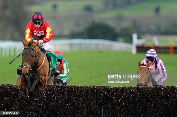 Sam TwistonDavies riding Cogry clear the last to win The coralcouk Money Back If Your Horse Falls Novices' Limited Handicap Steeple Chase at Chepstow...