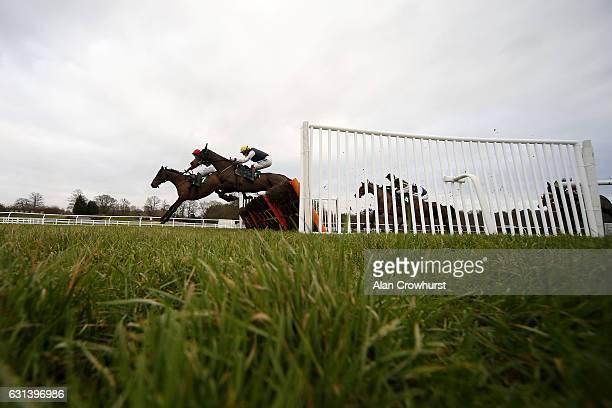 Sam TwistonDavies riding Crievehill clear the last to win The Follow Us On Twitter @stratsports_bet Handicap Hurdle Race at Lingfield Park on January...