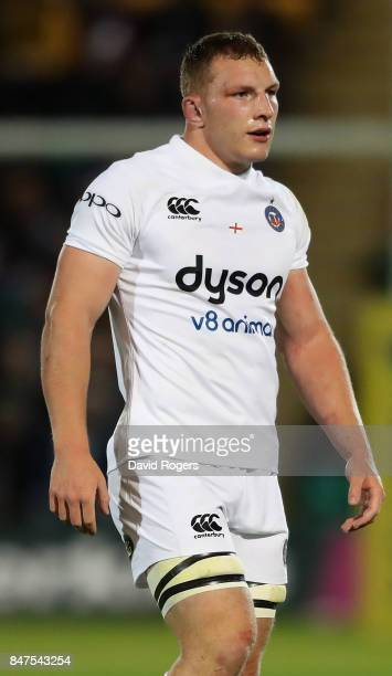 Sam Underhill of Bath looks on during the Aviva Premiership match between Northampton Saints and Bath Rugby at Franklin's Gardens on September 15...