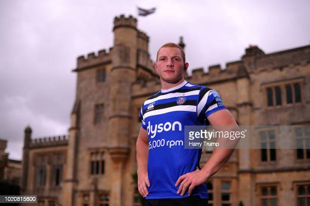 Sam Underhill of Bath Rugby poses for a portrait during the Bath Rugby squad photo call for the 2018-19 Gallagher Premiership Rugby season at...