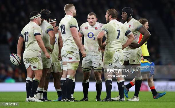 Sam Underhill of England during the NatWest Six Nations match between England and Wales at Twickenham Stadium on February 10 2018 in London England