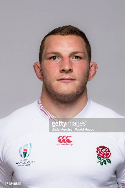 Sam Underhill of England poses for a portrait during the England Rugby World Cup 2019 squad photo call on September 15, 2019 in Miyazaki, Japan.